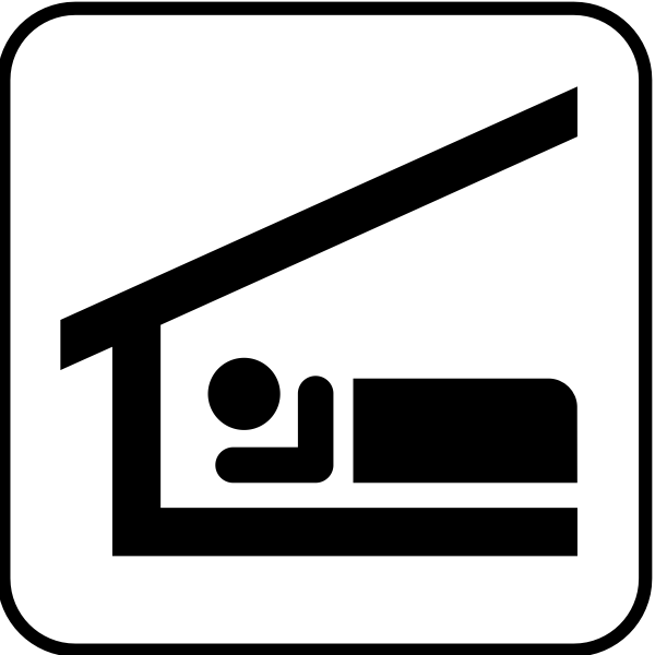US National Park Maps pictogram for sleeping shelter vector image