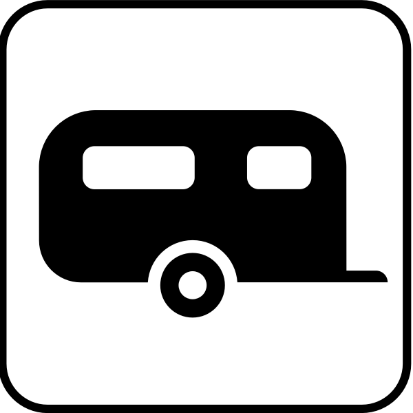 US National Park Maps pictogram for a campsite vector image
