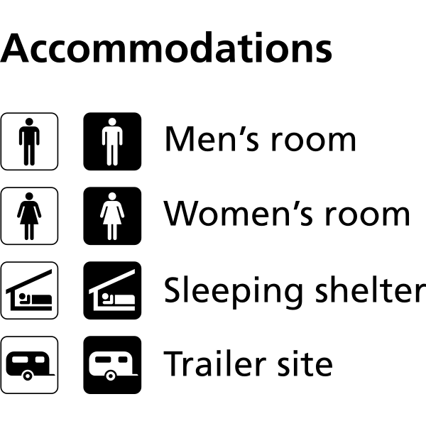 Pictograms for accommodation vector image