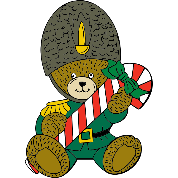 Christmas guard bear
