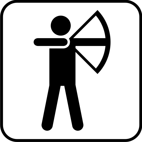 Vector image  of archery facilities available sign