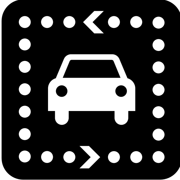 Pictogram for a driving tour vector image