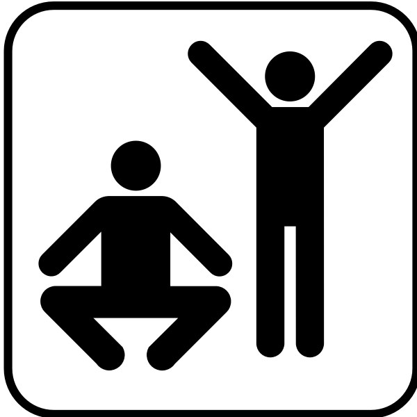 US National Park Maps pictogram for an exercise facility vector image