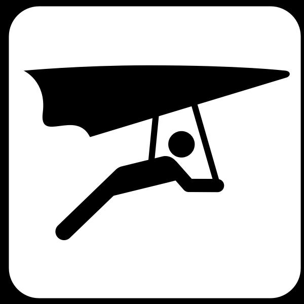 US National Park Maps pictogram for hang gliding vector image