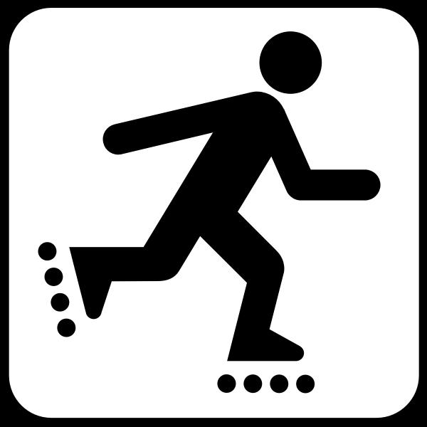 US National Park Maps pictogram for in-line skating vector image