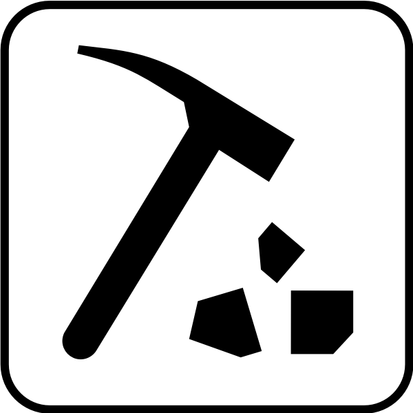 US National Park Maps pictogram for rock collecting vector image