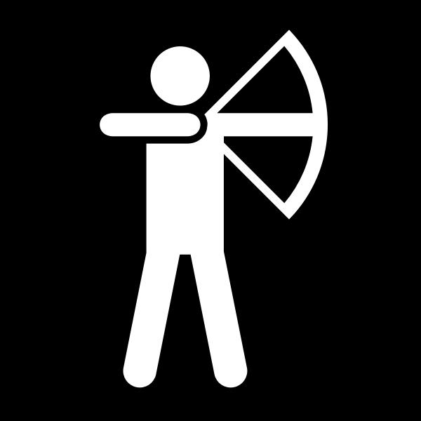 Vector clip art of archery facilities available sign