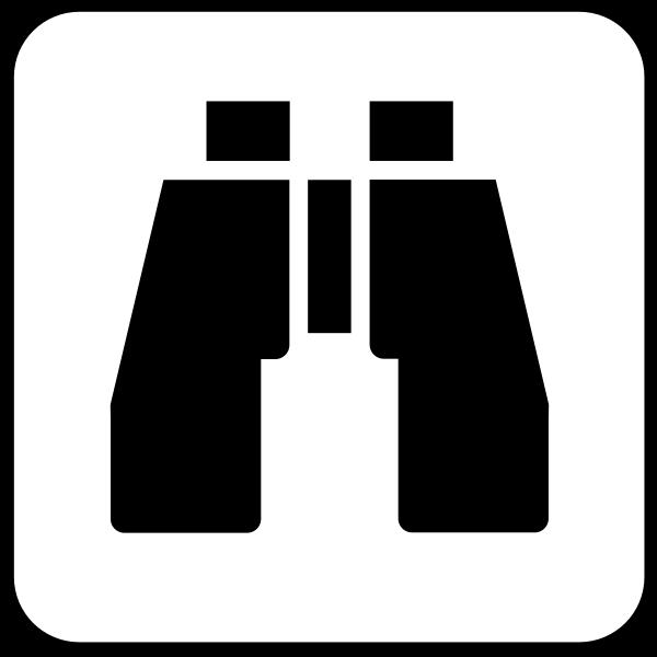 Vector illustration of international binoculats symbol