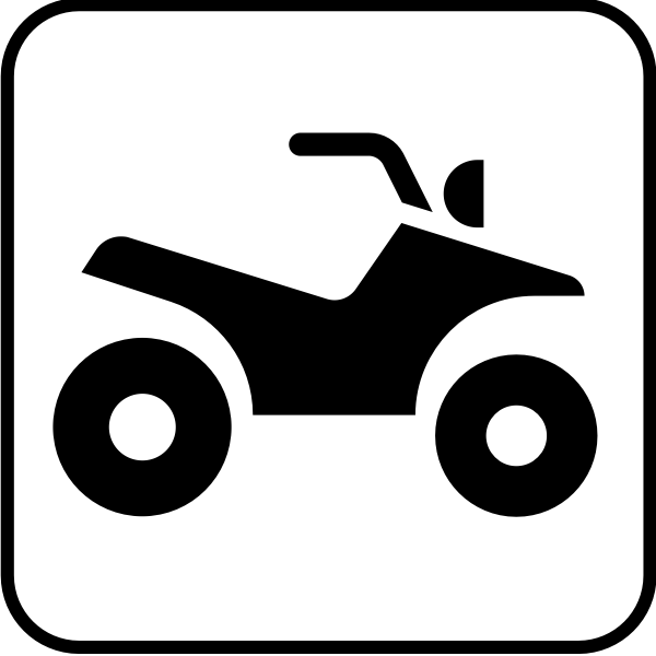 Vector drawing of for motorcycle lane sign
