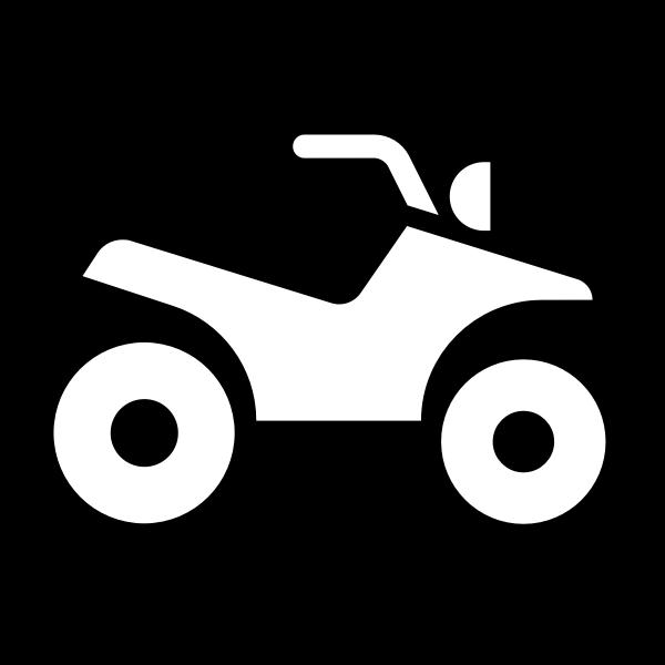Motorbike lane sign