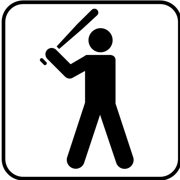 Vector graphics of baseball facilities available sign