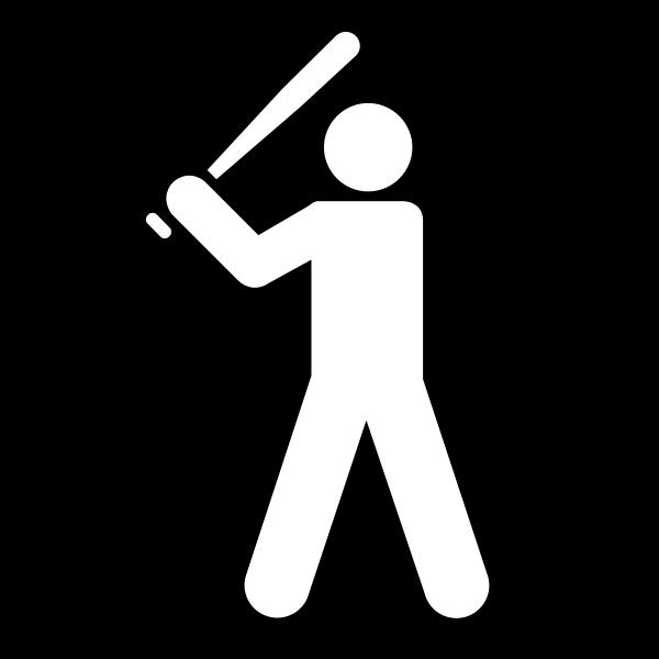 Vector clip art of baseball facilities available sign