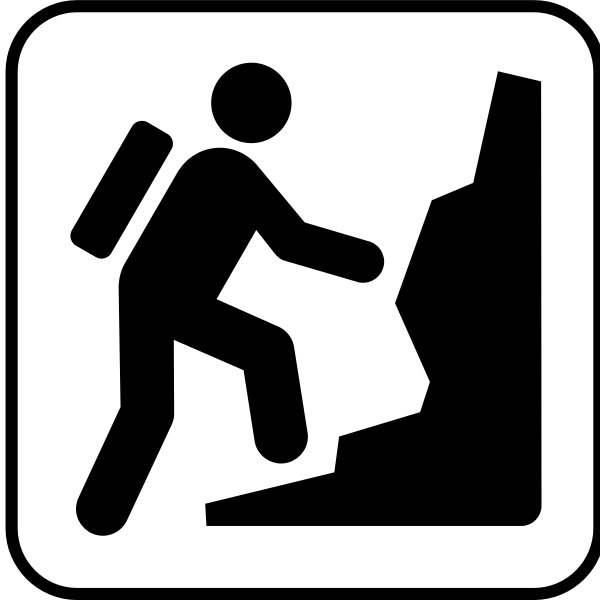 US National Park Maps pictogram for a climbing facility vector image