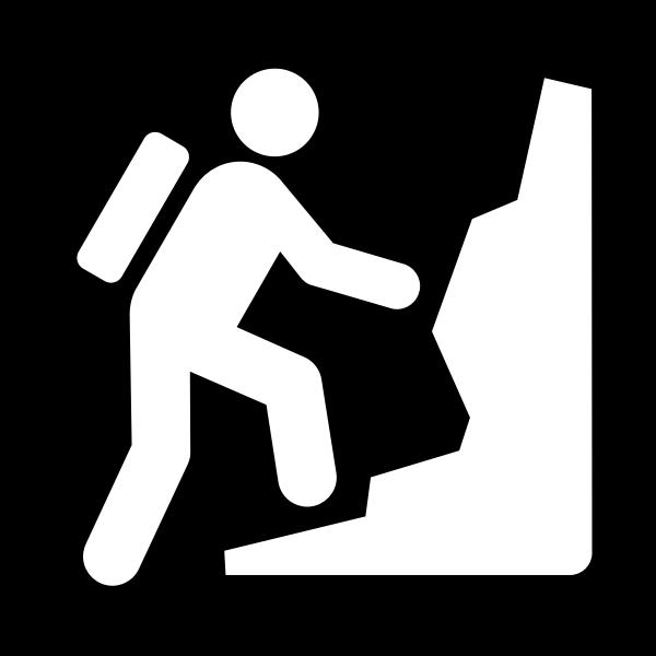 Pictogram for a climbing facility vector image