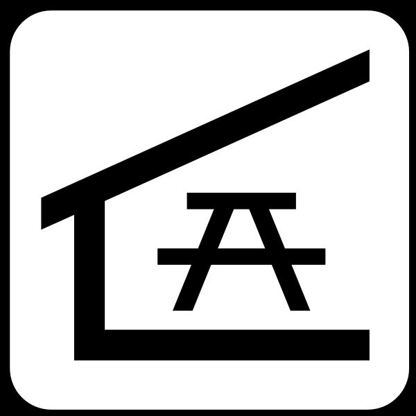 US National Park Maps pictogram for a picnic shelter vector image | Free SVG