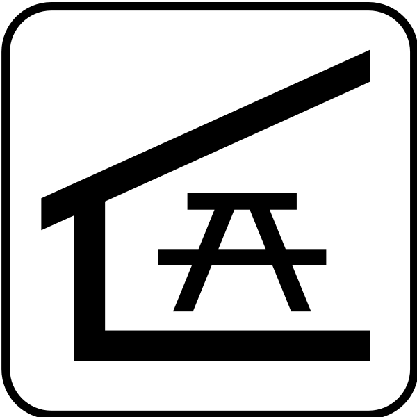 US National Park Maps pictogram for a picnic shelter vector image
