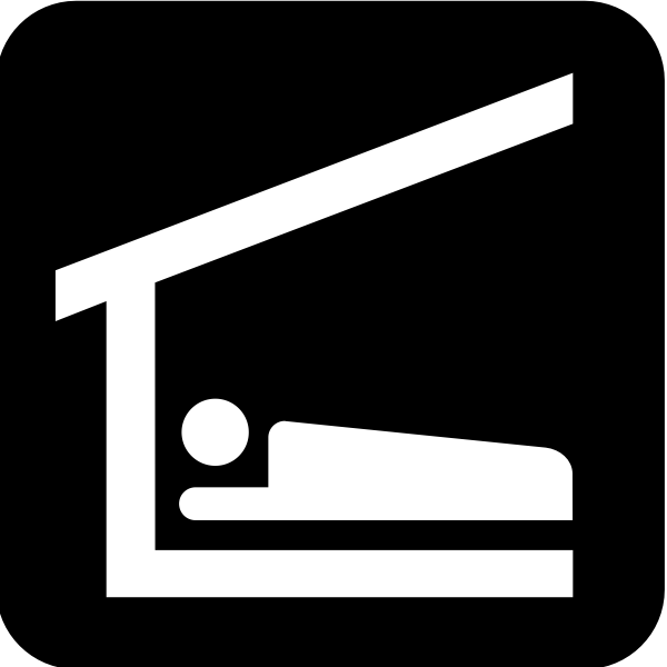 Pictogram for a sleeping shelter vector image