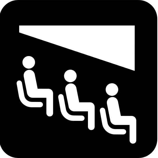 Pictogram for a theater vector image