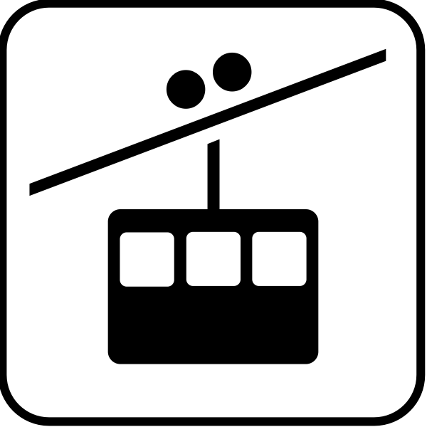 US National Park Maps pictogram for a tramway traffic vector image