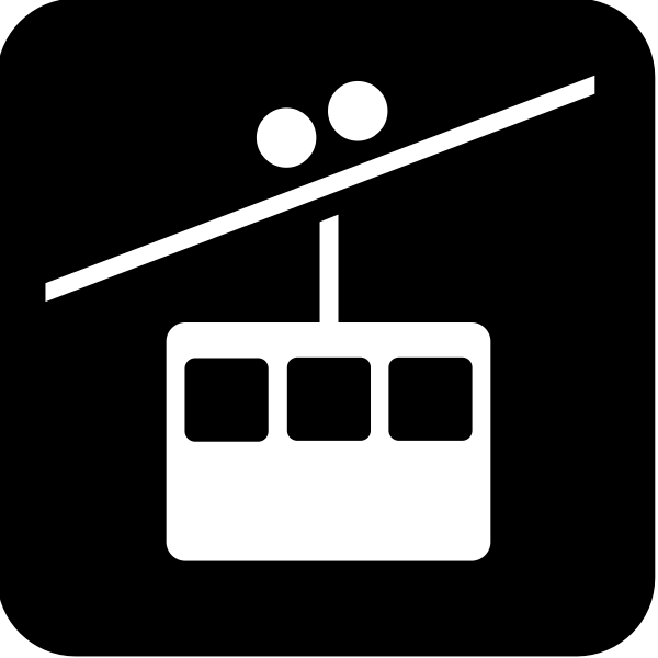Pictogram for a tramway vector image