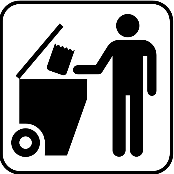 US National Park Maps pictograph for a trash dumpster vector image