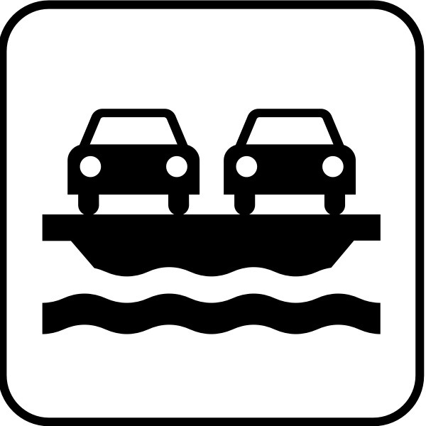 US National Park Maps pictogram for a vehicle ferry vector image