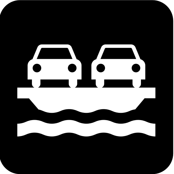Pictogram for a vehicle ferry vector image