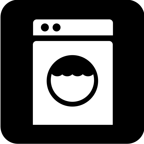 Pictogram for laundromat vector image