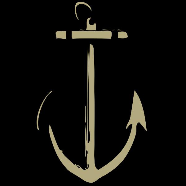 Vector drawing of sharp anchor