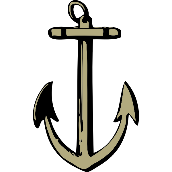 Vector drawing of sharp anchor