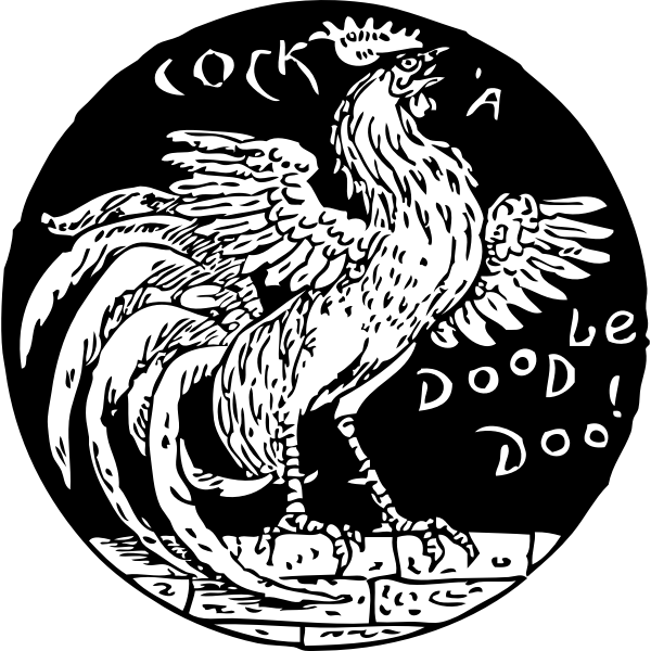 Vector clip art of cockerel symbol