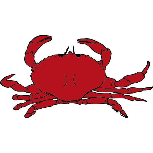 Vector graphics of red crab