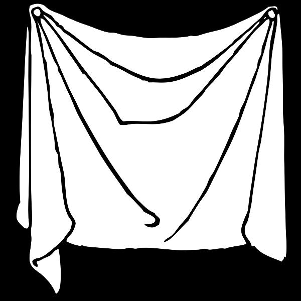 draped sheet