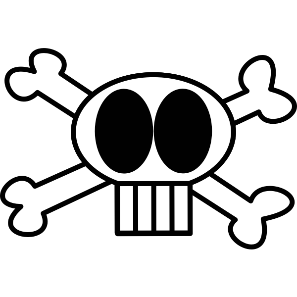 Spooky skull and cross bones vector clip art
