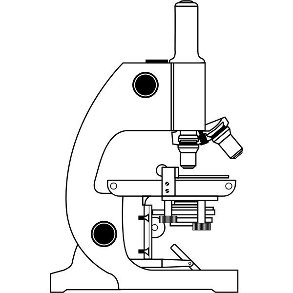 Vector clip art of of a simple microscope