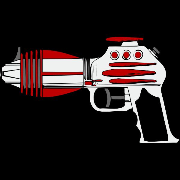 Vector illustration of ray gun