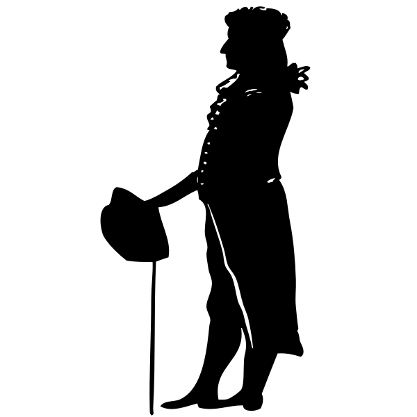 Silhouette vector illustration of Schiller