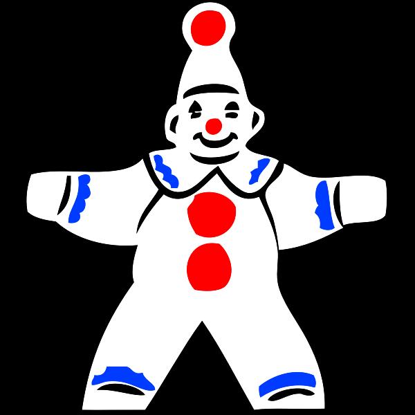simple clown figure