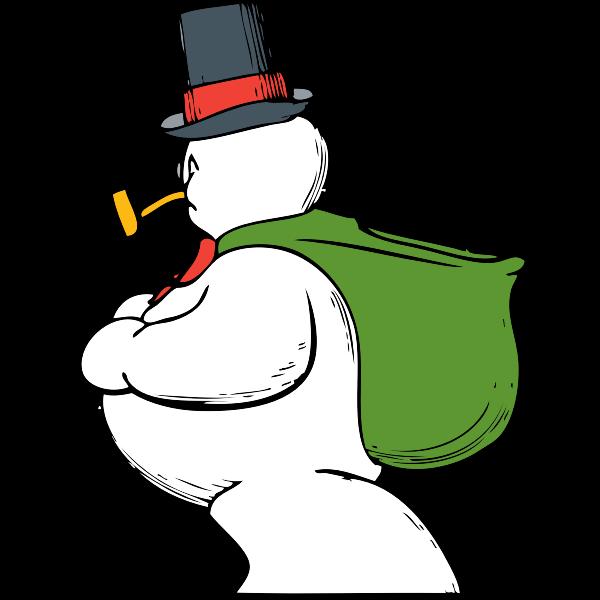snowman side view
