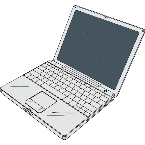 Laptop computer vector graphics