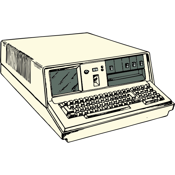 Portable computer vector clip art