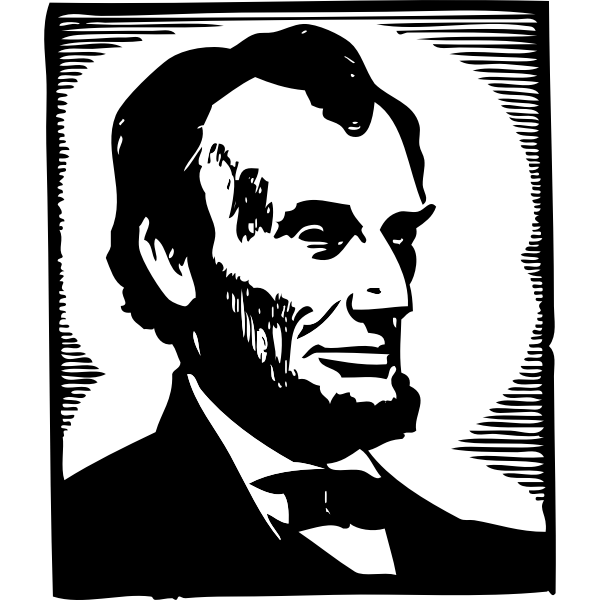 Vector image of Abraham Lincoln