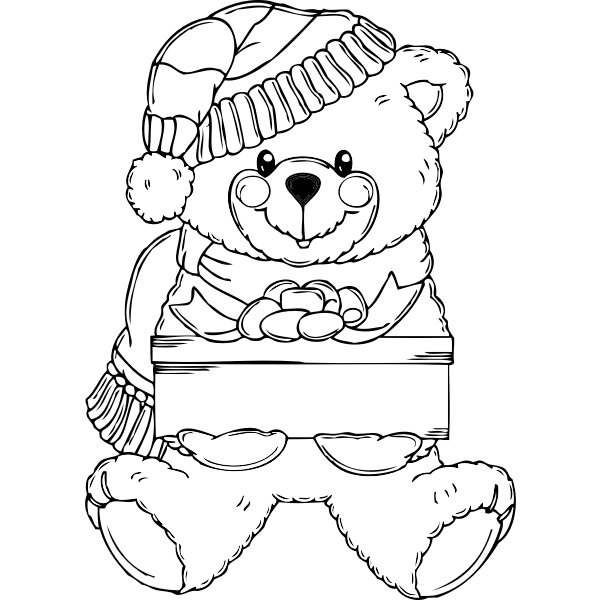 Christmas Bear vector graphics