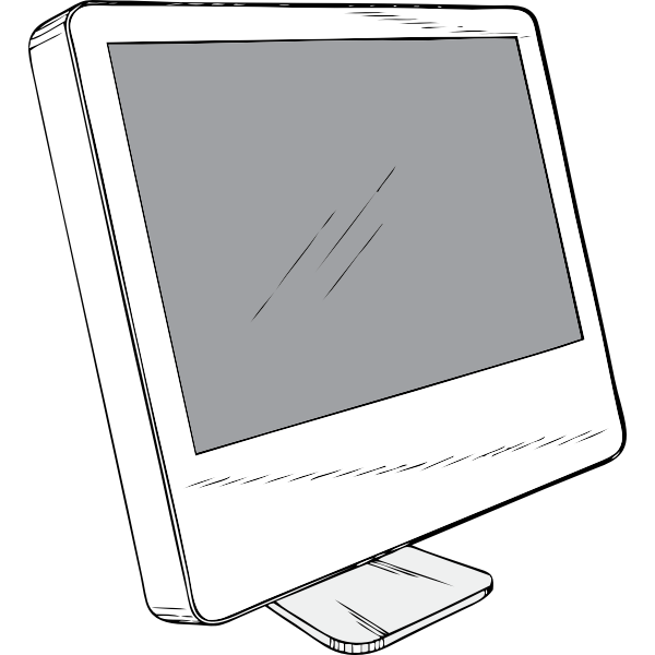 Computer flat display vector image
