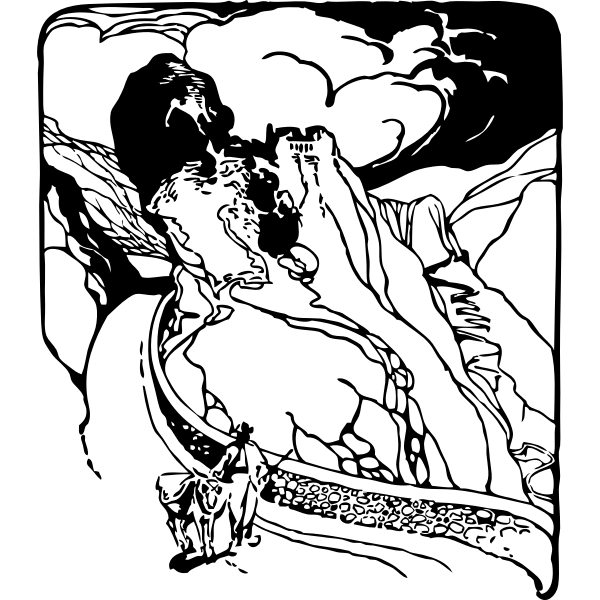 Gourdon commune vector image