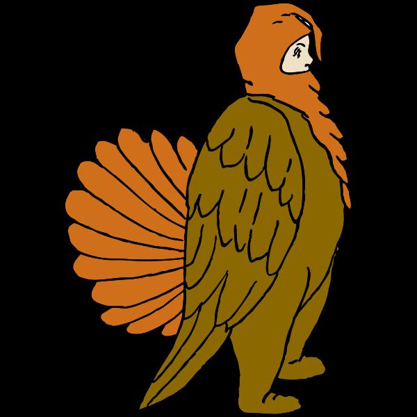 Boy in turkey suit vector image
