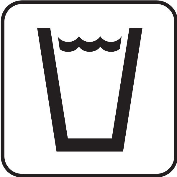 US National Park Maps pictogram for safe to drink water vector image