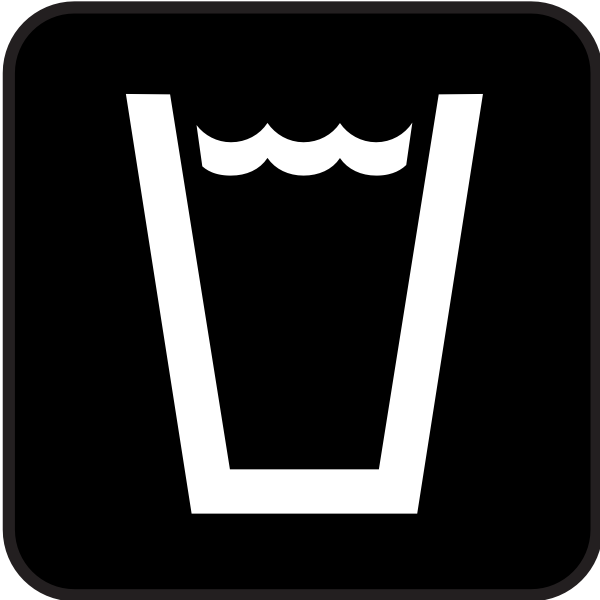 Pictogram for drinking water vector image