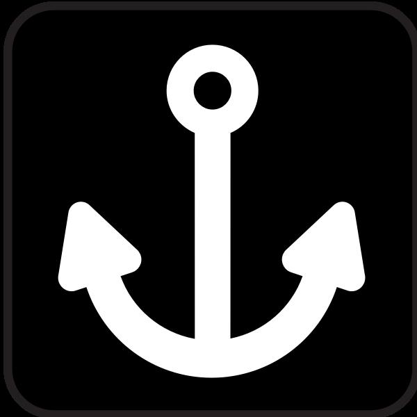 Pictogram for port vector image