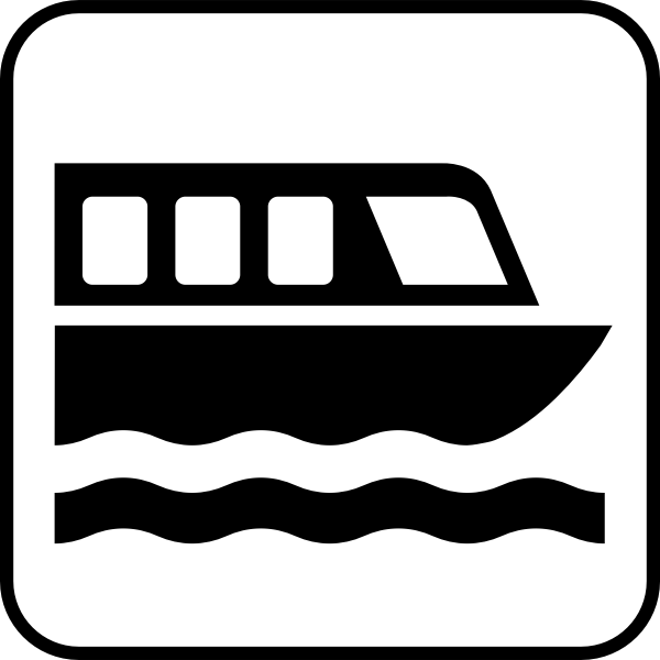 US National Park Maps pictogram for a boat port vector image